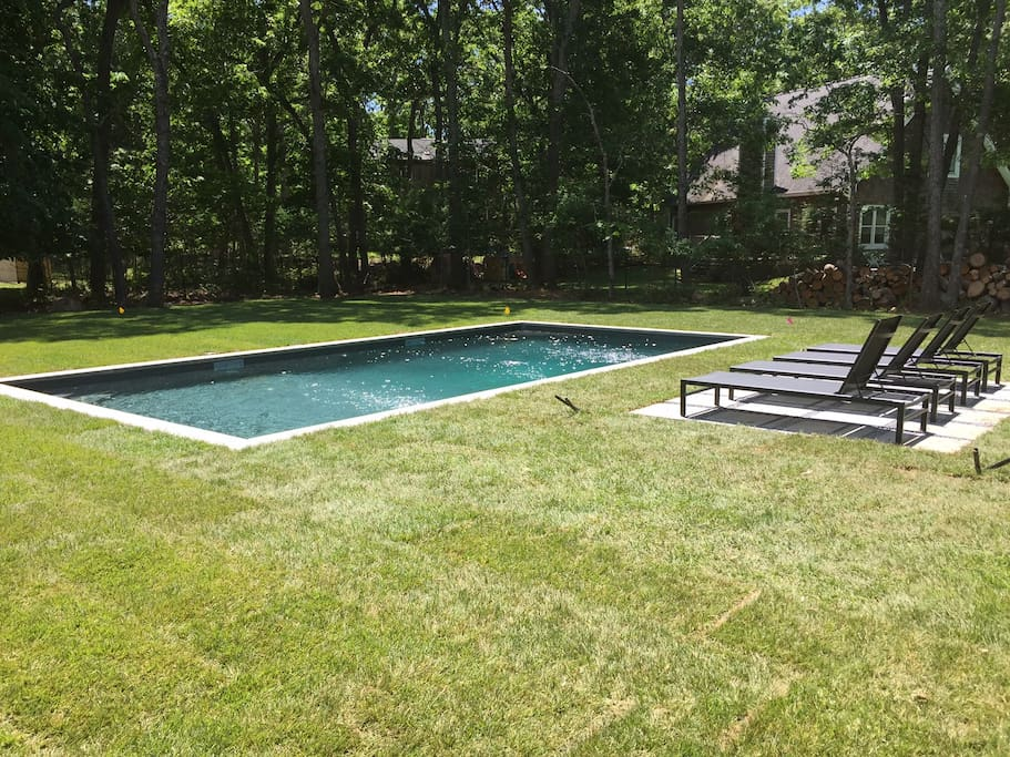 Brand new salt water pool!