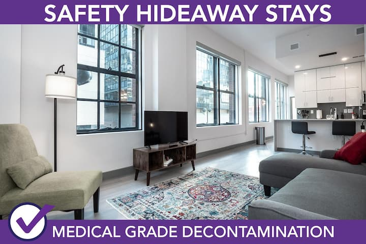 Safety Hideaway - Medical Grade Clean Condo - Heart of Business District # 401