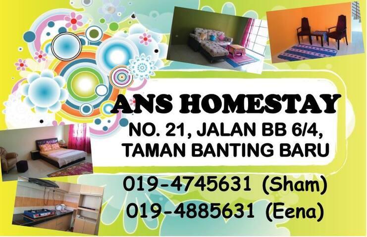 ANS HOMESTAY @ BANTING MALAYSIA