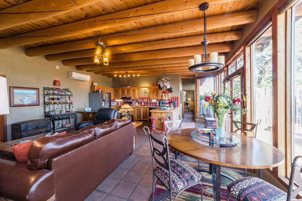 Very open dining/living area for entertaining; including well appointed bar for aspiring mixologists.