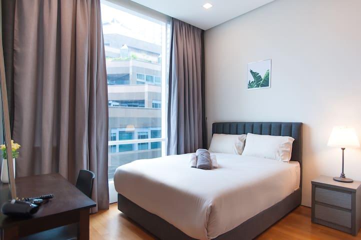 Soho Suites KLCC - Central 3 Queen Beds Flat