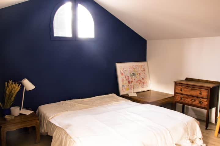 Chambre privée dans les Monts d'Or, proche de Lyon