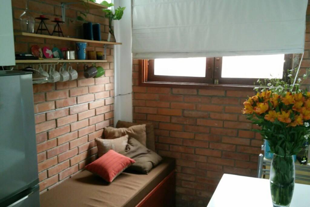 Sala comedor, sofa cama