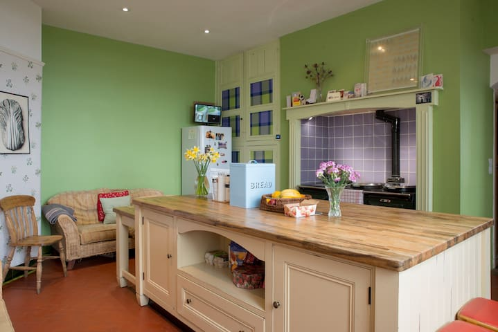 spacious kitchen. you can use if staying over 2 days