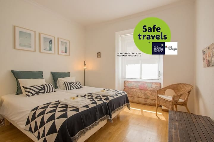 Clean&Safe. Apartment w/patio in Belem. Airy&Fresh