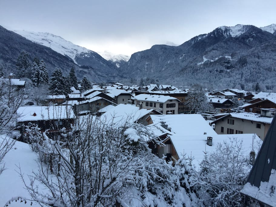 Actual view of Samoens from property