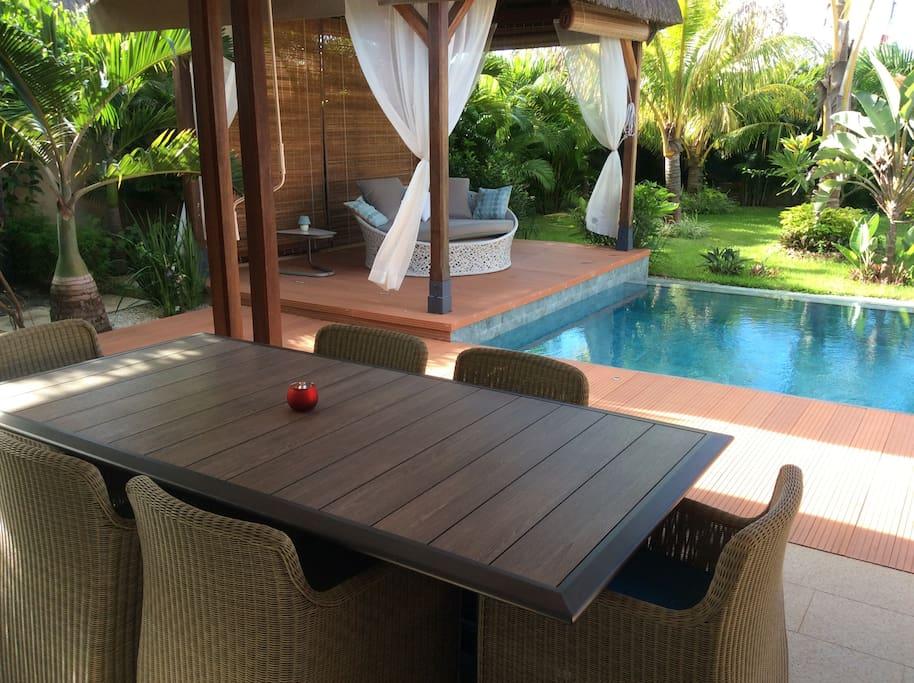 Kiosque veranda piscine