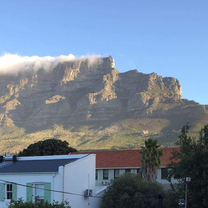 The foot of Table Mountain (pic from font door)