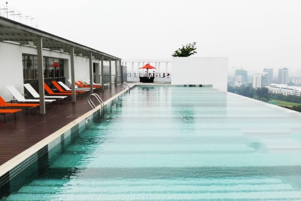 enjoy the infinity pool at roof top that connects you and the scenery