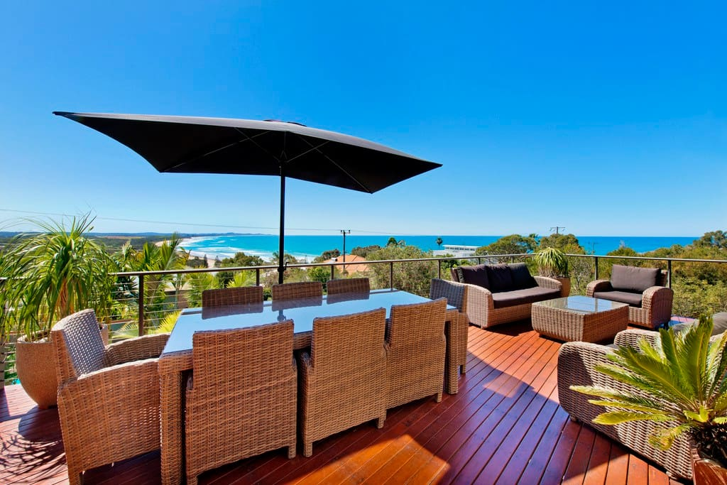 Breath taking views from the large entertaining deck