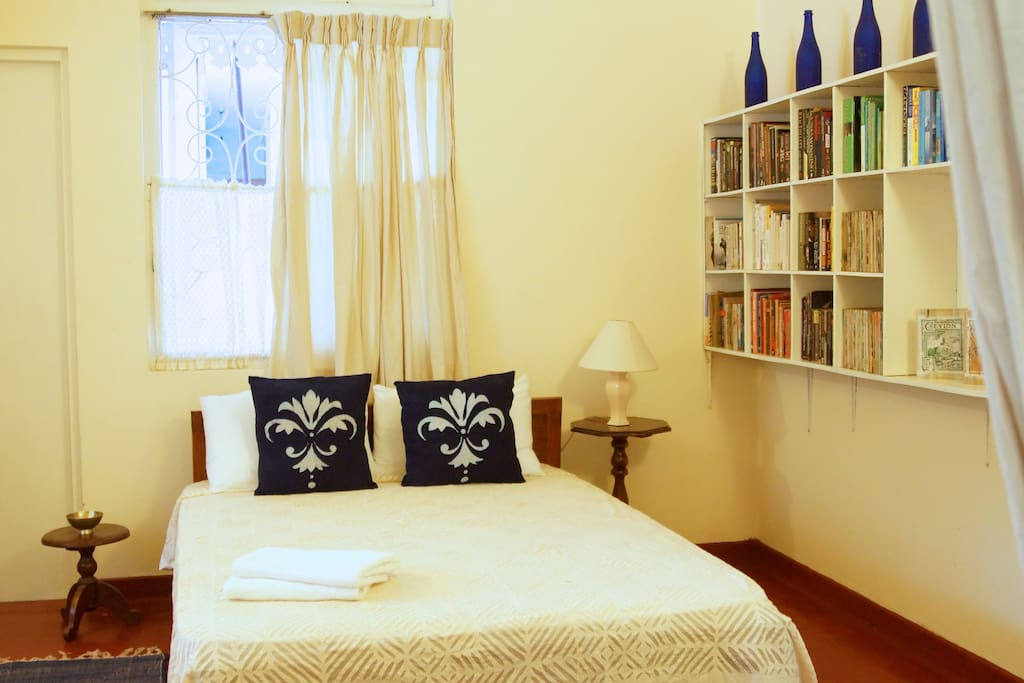 Charming main room with A/C and fan