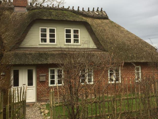 Wunderschönes, reetgedecktes Haus am Ostseestrand - Niesgrau - Rumah