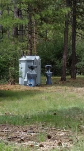 Porta pottie and wash station