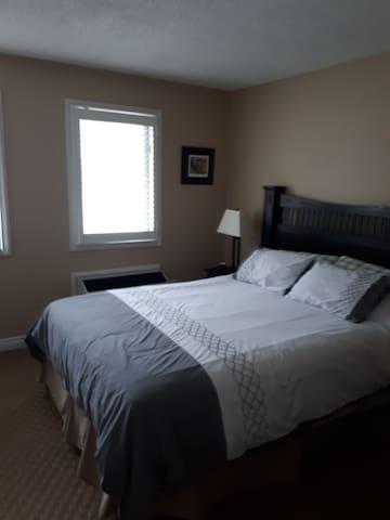 Separate bedroom.