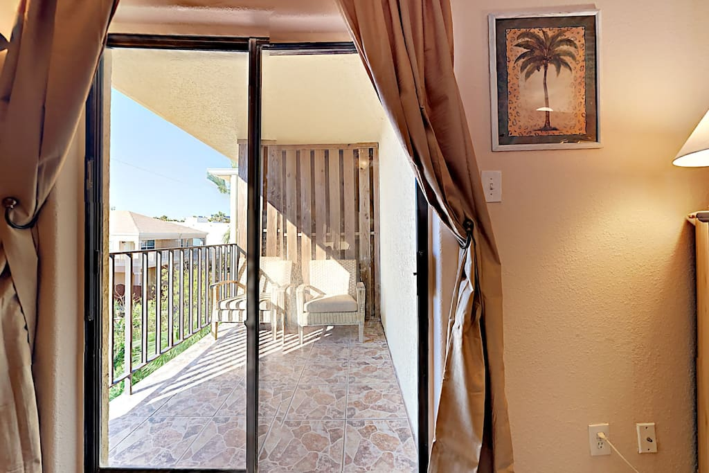 Privacy and quiet on your own personal private balcony.