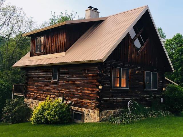 GreyWolf Log Home, Shavers Fork River in Elkins WV