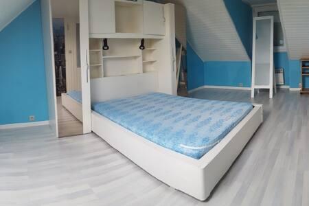 chambre privée n°2 dans maison spacieuse - Luché-Pringé - Casa