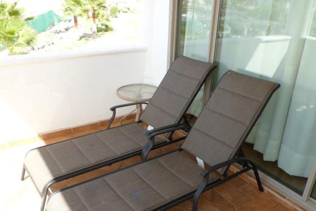 Two lounge chairs awaits you