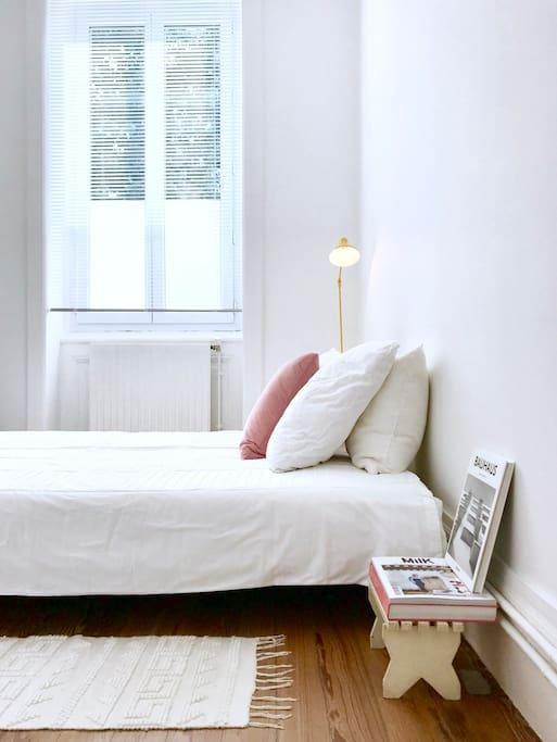 Votre lit en 160. ( Ce sont deux lits en 80 côte à côte )