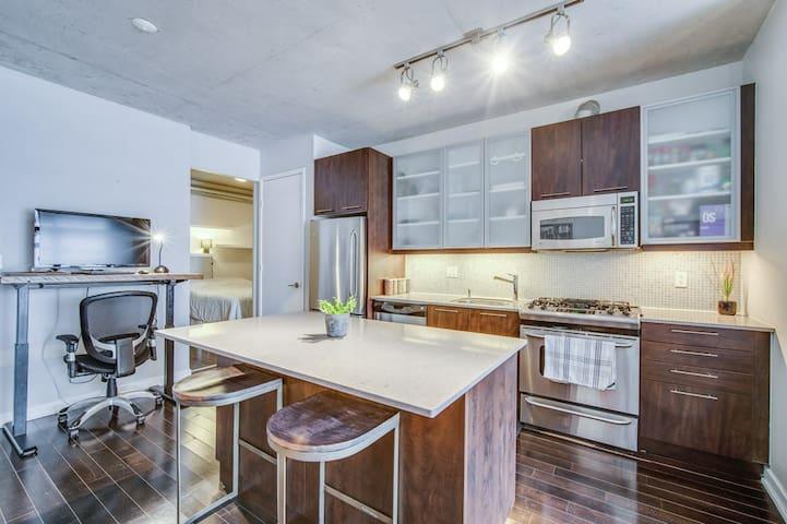 Kitchen + desk