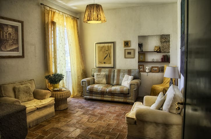 Sunny living room with fold out sofa and flat screen TV with Sky  Apartment 2