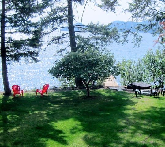 WATERFRONT CABIN WITH ISLAND VIEWS! - Lakeside - Cabaña