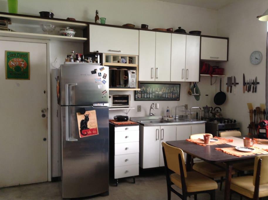 cozinha integrada totalmente equipada