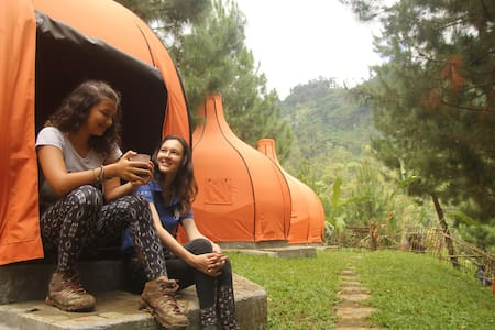 The Lodge Maribaya.. Camping & Adventure Bandung - Lembang - Tent