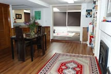 Two room studio  with a separate entrance including a bedroom, kitchen and  a bathroom