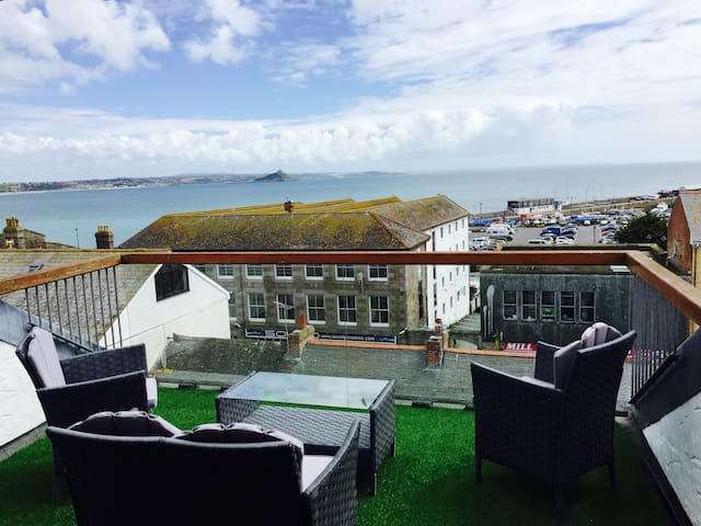 Stunning Balcony Views of St Michaels Mount