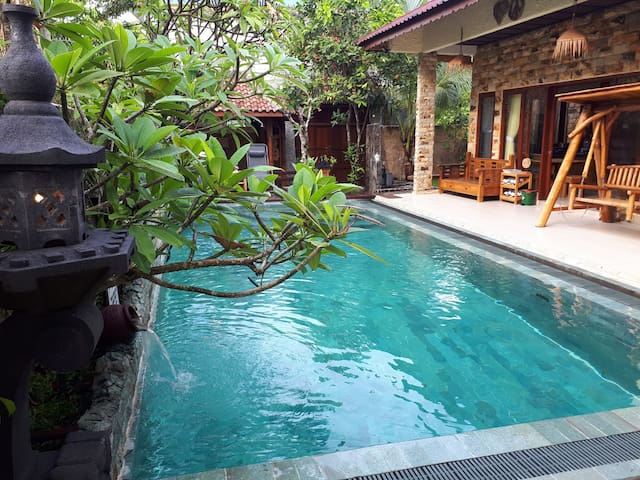 A villa with strong touch of Balinese Style