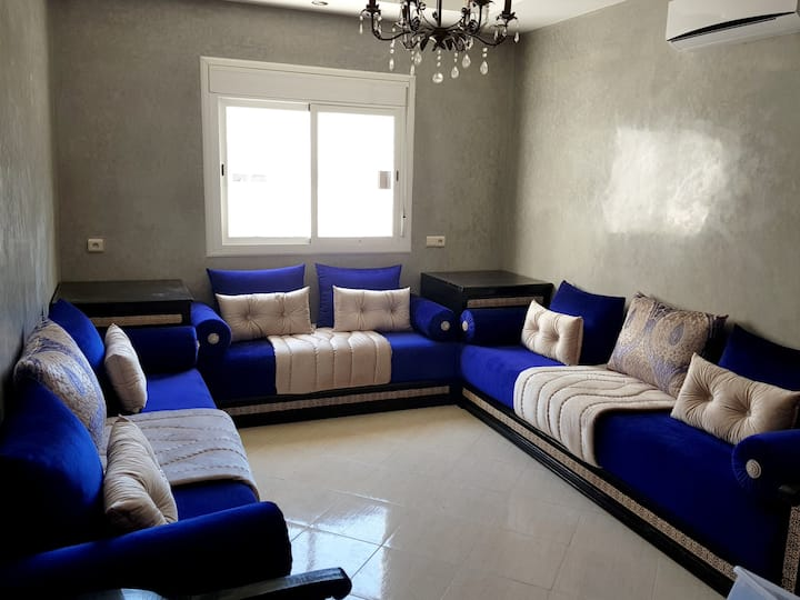 Apartment with 2 bedrooms in Agadir, with balcony and WiFi - 1 km from the beach