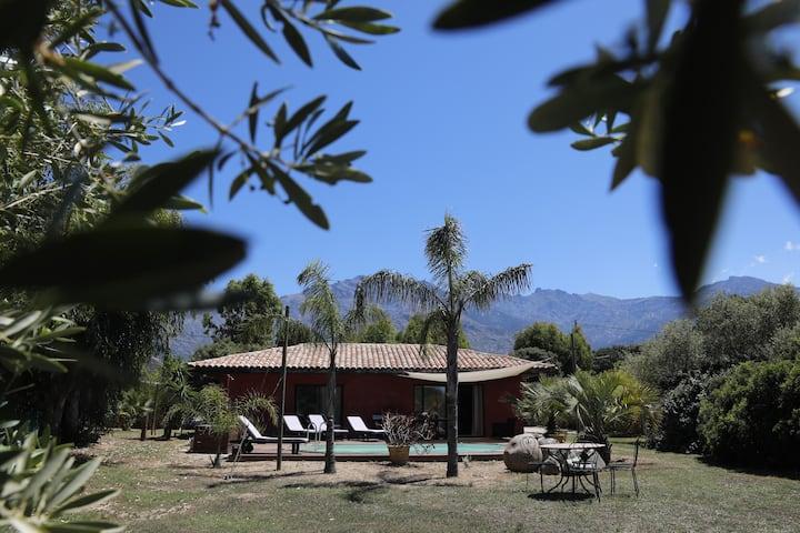 """Maison """"éco""""en pleine nature avec piscine chauffée"""