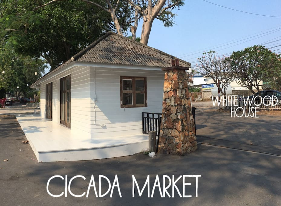 The house is just few steps walk away from the famous artistic Cicada night weekend market