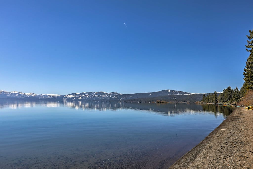 Spend leisurely days on Lake Tahoe  - just a short walk away!