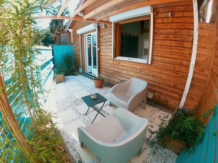 LA CARAVELLE - Chalet en bois -T2 36m² + terrasse