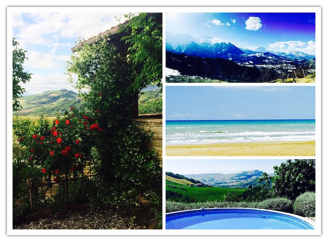 Abruzzo Farmhouse w/Stunning Views - Montefino - Rumah