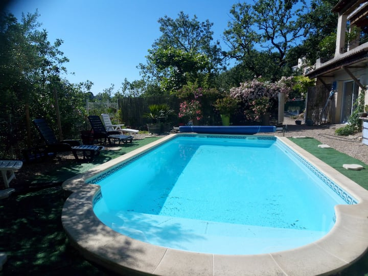 Villa with 4 bedrooms in Ners, with private pool, furnished garden and WiFi - 64 km from the beach