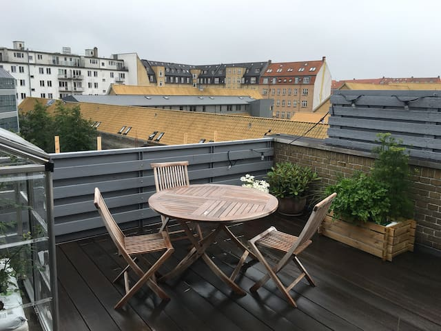 Rooftop terrace in the center of Aarhus ! - Aarhus - Apartamento