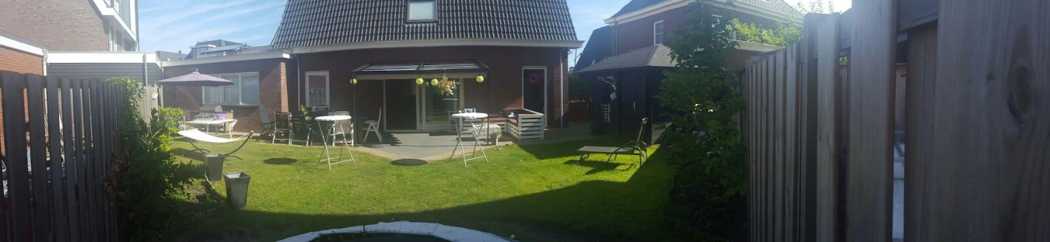 Wonderful house with sunny garden near Amsterdam