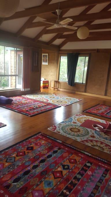 Meditation and yoga sacred space