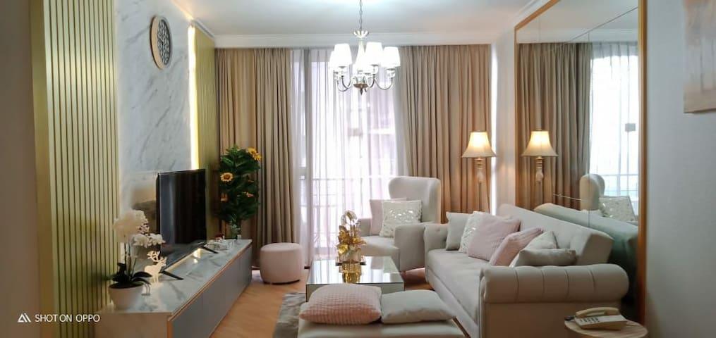 Luxurious 2BR Apartment at Aston Rasuna Kuningan
