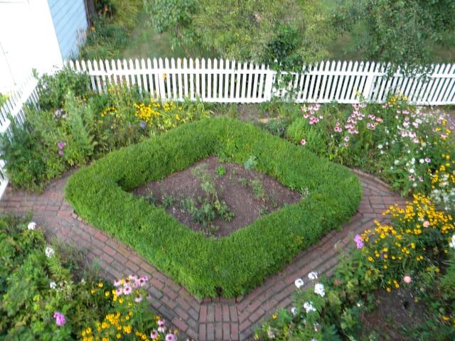 Stairs overlook English Garden