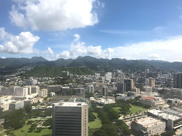 Penthouse 47th Floor! 2 bed, 2 bath, 2 parking - Honolulu - Lägenhet