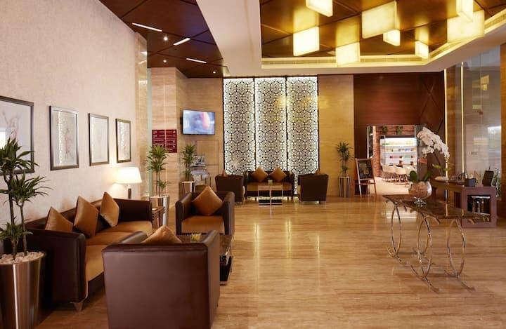 With full Kitchen Private Studio Dubai Sport City