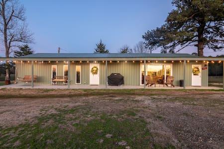 Luke's Barn on 70 Acres with Piney Woods