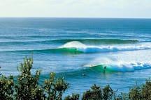 Famous surfing destination
