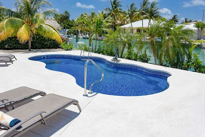 4BR Canal-Side Home w/ Dock & Pool