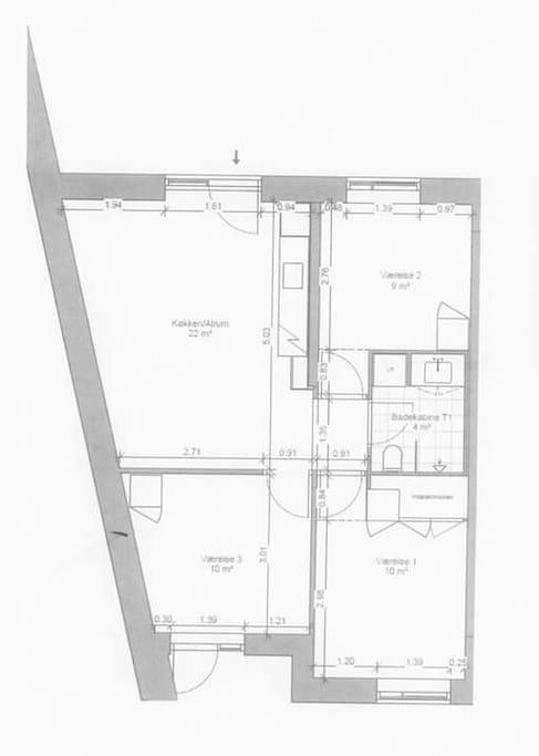 'værelse 3' on the floor plan