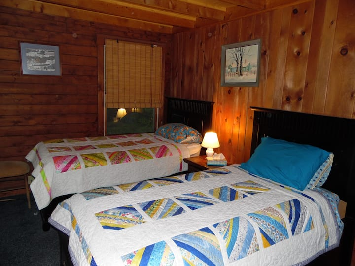 Log Cabin Cozy with Twin Beds